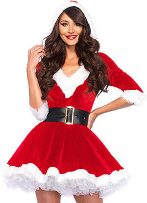 Leg Avenue Women's Mrs. Claus Costume-2 Piece