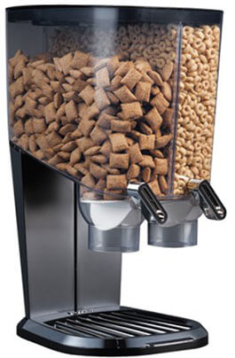 Rosseto EZS1098 EZ-SERV100 Cereal-and-Snack Dispenser, Black and Chrome