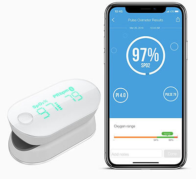 iHealth Finger Pulse Oximeter, with Perfusion Index and Plethysmograph