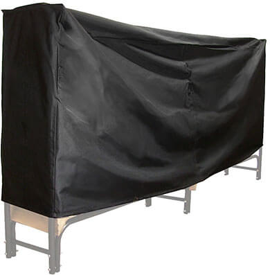 Sunnydaze Black Firewood Log Rack Cover, 8 Foot