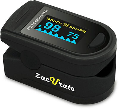 Zaccurate 500D Pro series deluxe finger Pulse Oximeter