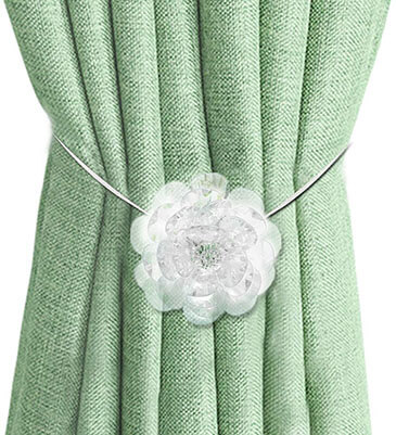 EleCharm Ayygift Transparent Flower Magnetic Curtain Clip Tiebacks