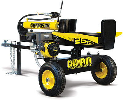 Champion Horizontal/Vertical Full Beam Gas Log Splitter-25-Ton