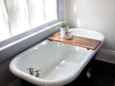 Whisky Ginger Bathtub Tray Caddy- Modern Bathtub Caddy
