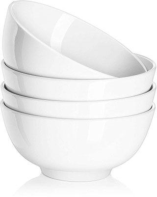 DOWAN 22 Ounces Porcelain Soup Cereal Bowls