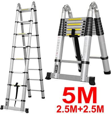 Oshion Aluminum Telescopic Extension Ladder
