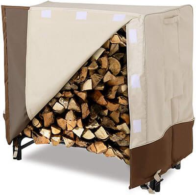 SONGMICS 4 Feet Heavy Duty Log Rack Cover Waterproof Firewood Cover
