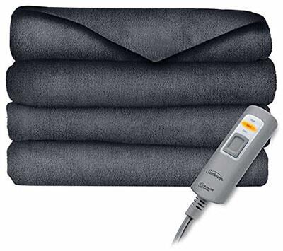 Sunbeam Velvet Plush Heated Throw Blanket