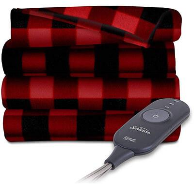 BuyRegisterRolls Sunbeam Heated Electric Throw Blanket Fleece