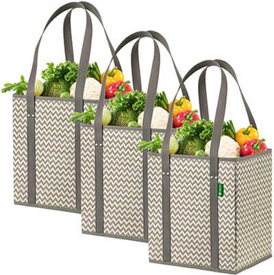 Creative Green Life Reusable Grocery Shopping Box Bags