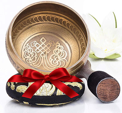 Silent Mind Bronze Mantra Silent Mind Tibetan Singing Bowl Set
