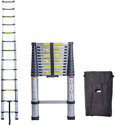 Idealchoiceproduct Aluminum Telescopic Ladder Extension Steps