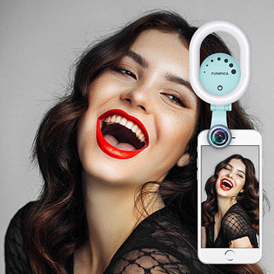 Evershop Clip-on Rechargeable Universal LED Selfie Light