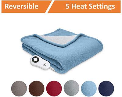 Serta Heated Electric Throw Blanket