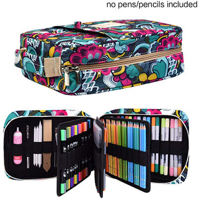 Pencil Case Holder Slot - 202 Colored Pencils