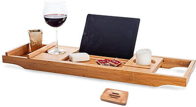 OCENGS Large Luxury Bathtub Caddy Tray