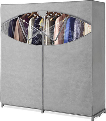Whitmor Clothes Storage Organizer- Portable Wardrobe Closet, with Hanging Rack