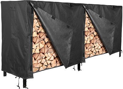 Femor Log Rack Cover, 600D Waterproof Patio Firewood Rack Cover- Heavy Duty