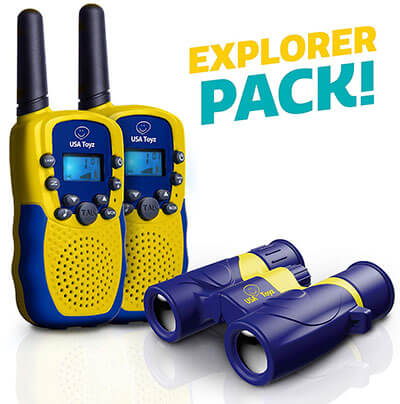 USA Toyz Walkie Talkie with Binoculars