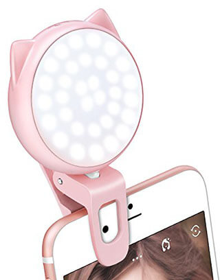 OURRY ClipOn Selfie 32 LED Camera Light 32