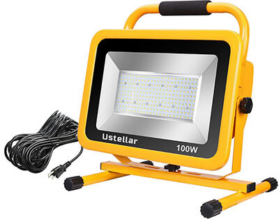 Ustellar 10000LM Waterproof Work Light with 25ft Cord