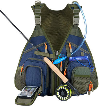 Piscifun Fishing Vest Backpack Fly Fishing Vest Pack for Tackle and Gear