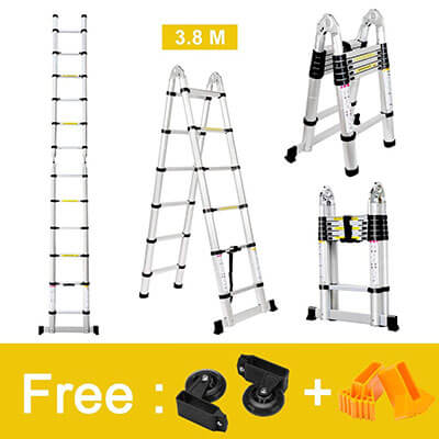 Finether Aluminum Telescopic Extension Ladder