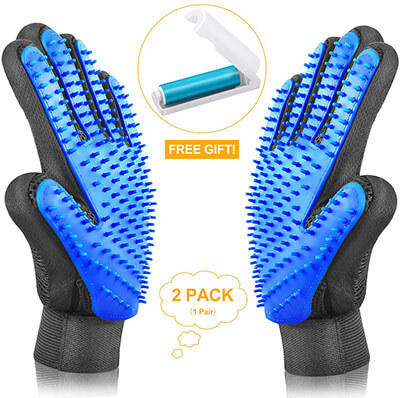 ASENKU Breathable & Comfortable Pet Grooming Gloves