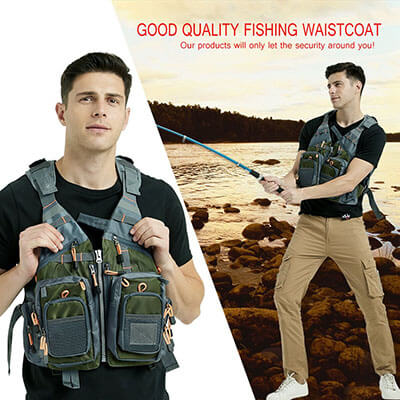 Mounteen Fly Fishing Vest Pack for Men and Women