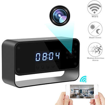 RZATU Hidden Alarm Clock Camera