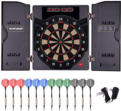 WIN.MAX Electronic Dartboard Set with Cabinet