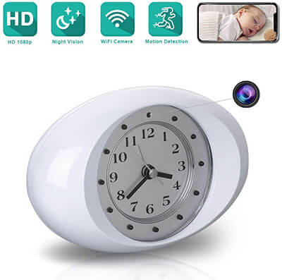 ESLIBAI Spy Hidden Alarm Clock Camera