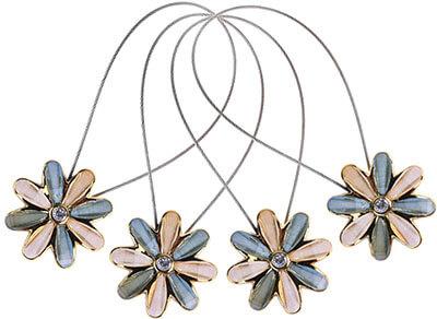 CM Cosmos Magnetic Flower Curtain Clips Tiebacks Holdbacks