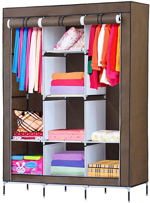 NEX Portable Clothes Closet Wardrobe -Standing Closet Organizer
