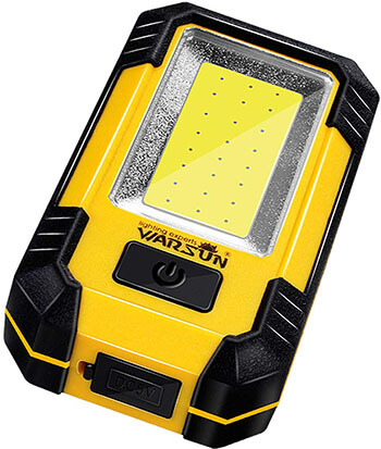 Warsun KS-08 Portable LED Cordless Work Light with Magnetic Base & Hanging Hook