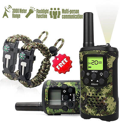 Aikmi Kids Walkie Talkies Set - 2 Way Radio Walkie Talkies for Kids