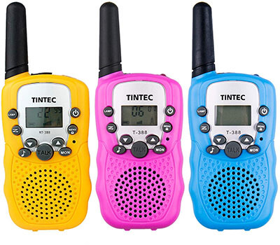 Tintec 3 Pack Walkie Talkies, 22 Channels 2 ways Radio Toy