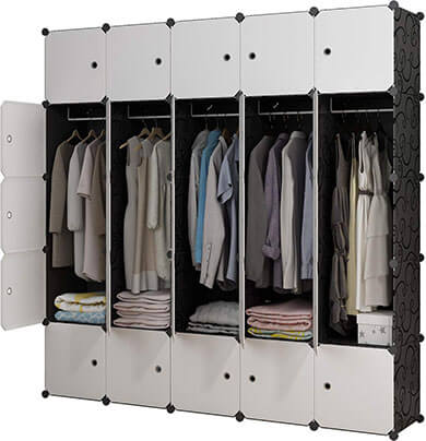 KOUSI Portable Wardrobe Closet Clothes