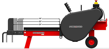 Powerhouse XM-880 Log Splitters Kinetic log splitter