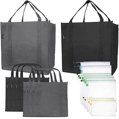 SMIRLY Reusable Folding Grocery and Produce Bags