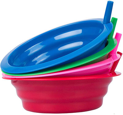 Cibi Kitchens Cereal Bowl with Straws