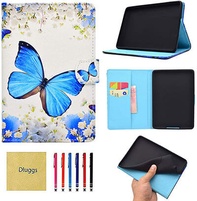 Dluggs Slim Fit PU Leather Folio Smart Cover for Kindle Paperwhite