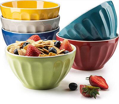 KooK Assorted Colors Ceramic Bowls