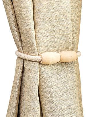 ShaYiMan Logs Curtain Tiebacks Rope- Decorative Magnetic