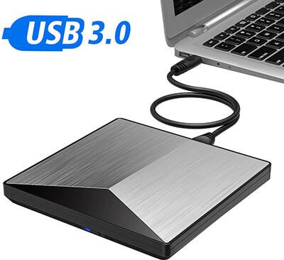 IVKEY USB 3.0 Portable DVD/CD ROM Rewriter