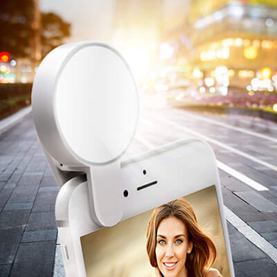 Juhefa Clip-on LED Camera Selfie Light Ring