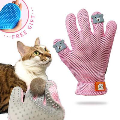 FURBB Pet Grooming Glove Deshedding Brush Glove