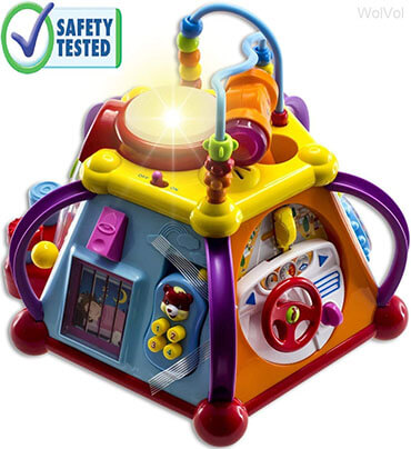 WolVol Educational Kids Toddler Musical Activity Play Center