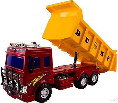 WolVol Big Dump Truck Toy Solid Plastic Heavy Equipment Vehicle Toy