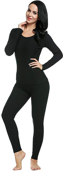 Ekouaer Women's Thermal Underwear